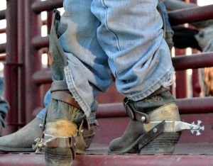 Cowboy's boots and spurs