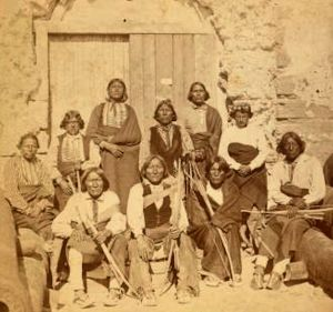 Kiowa and Caddoe tribes people in captivity