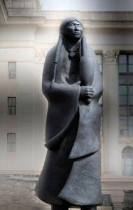 Native American woman memorial statue, Oklahoma City