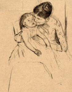 A drawing of the time show a sick child - it was the youngest and oldest members of the family who bore the brunt of the attacks