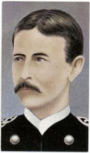 A cigarette card illustration of Major Walter Reed
