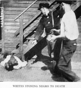 Violence against negroes was frequently extreme