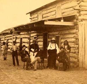 The trading post at Fort Berthold, North Dakota