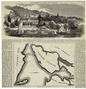 A Yellow Fever quarantine station on Staten Island, 1857