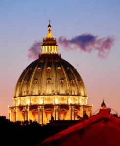 Even with all the high-tech, The Vatican still uses either dark or light smoke to indicate the progress in their deliberations for the election of a new Pope