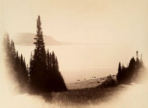 Yellowstone Lake west from Mary's Bay photographed by W H Jackson