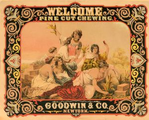 An advert for Goodwin's Fine Cut Chewing Tobacco